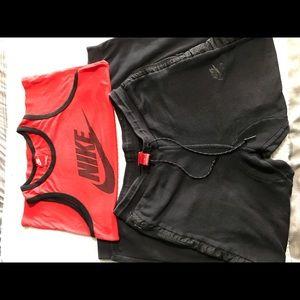 Nike tank top shirt and Nike sweat pants